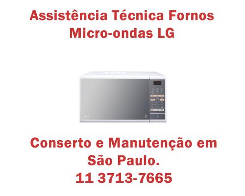 Assistência técnica fornos micro-ondas Lg