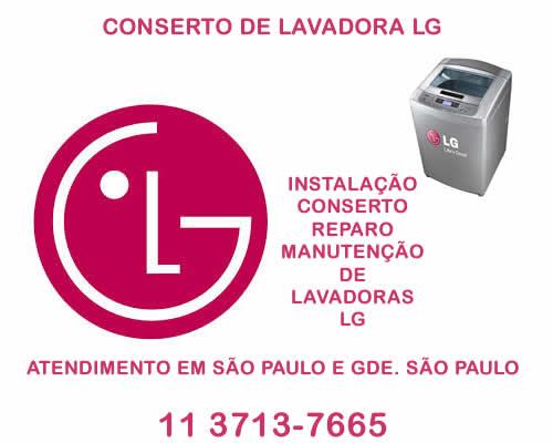 Conserto de lavadora Lg